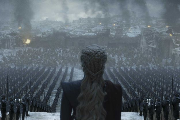 "Daenerys Targaryen dans l'épisode 6 de la saison 8 de ""Game of Thrones""."