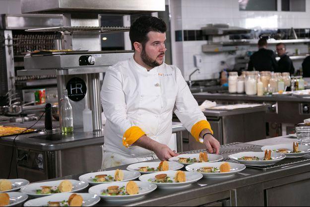 """Guillaume lors de la finale de """"Top Chef""""."""