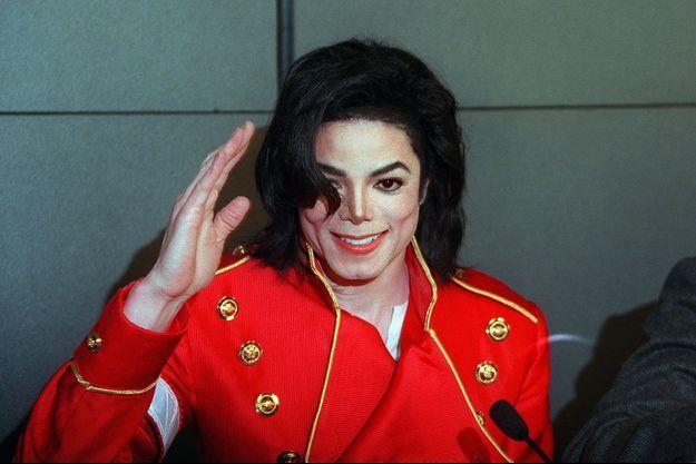 Michael Jackson à Paris en 1996.