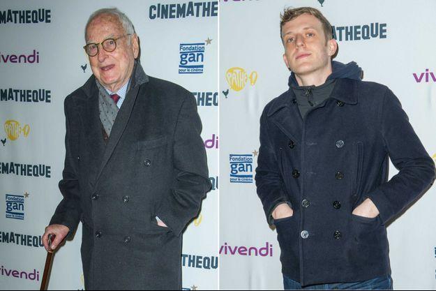James Ivory et Edouard Louis lors de la rétrospective consacrée au cinéaste à la Cinémathèque, le 15 janvier 2020.