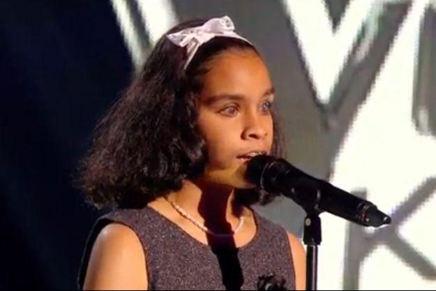 """Jane a bouleversé le plateau de """"The Voice Kids"""" vendredi."""
