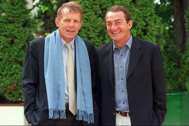 Patrick Poivre d'Arvor et Jean-Pierre Pernaut en 2001.