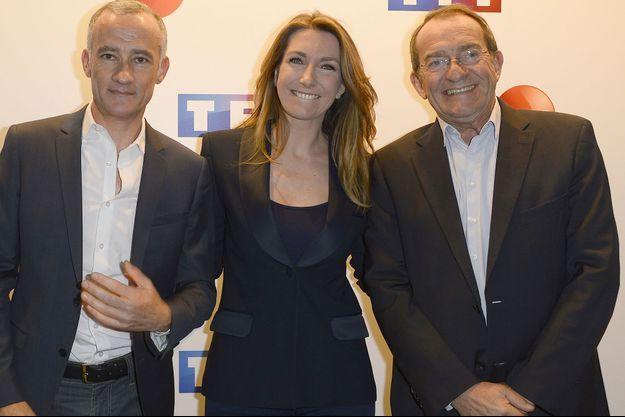 Gilles Bouleau, Anne-Claire Coudray et Jean-Pierre Pernaut.