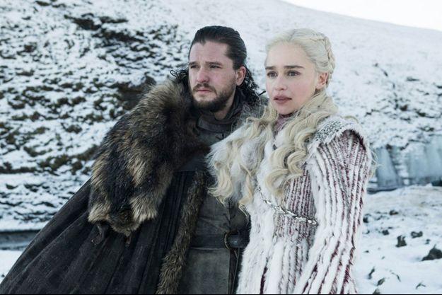 Jon Snow (Kit Harington) et Daenerys Targaryen (Emilia Clarke).