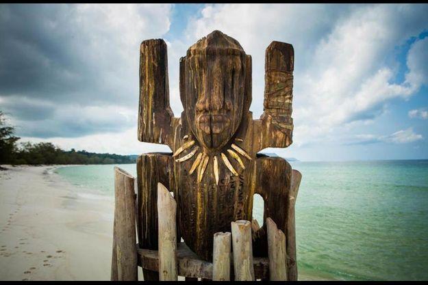 """Un totem de """"Koh-Lanta""""."""