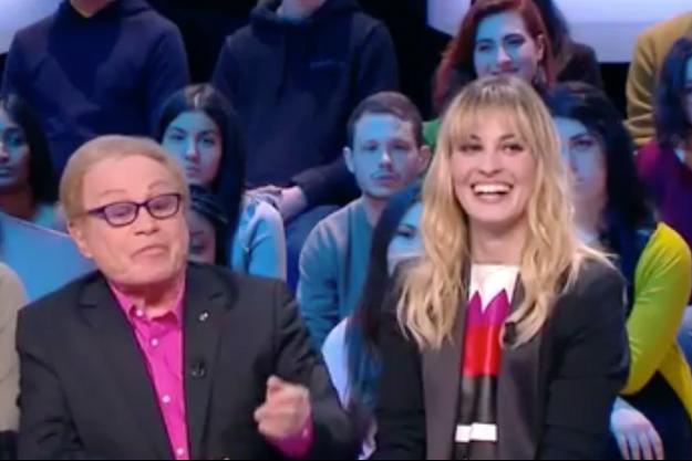"Sveva Alviti sur le plateau du ""Grand Journal"", jeudi soir."