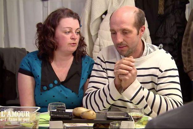 """Maud et Laurent dans """"L'Amour est dans le pré""""."""