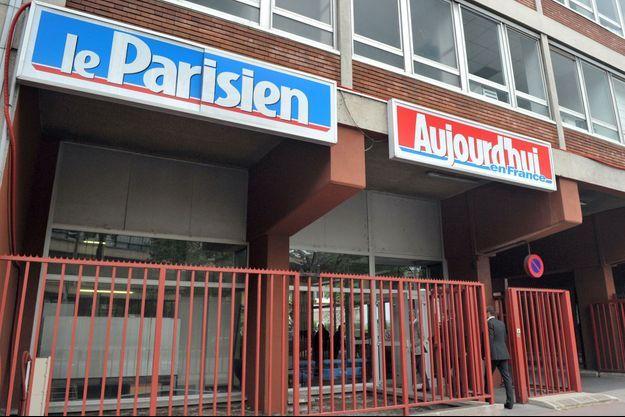 """Le siège du """"Parisien"""" et """"Aujourd'hui en France"""" à Saint-Ouen."""
