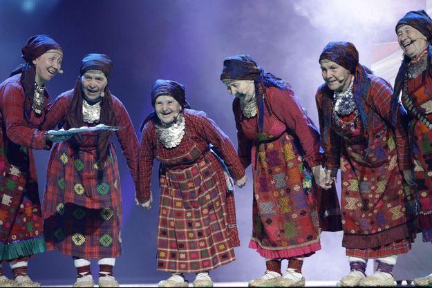 Le groupe russe Buranovskiye Babushki, en 2012.