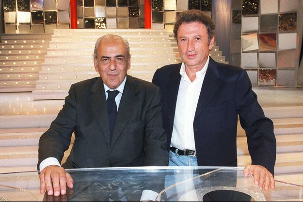 Pierre Bénichou et Michel Drucker en 2001.