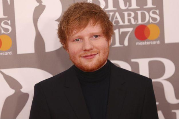 Ed Sheeran aux Brit Awards en février dernier à Londres.