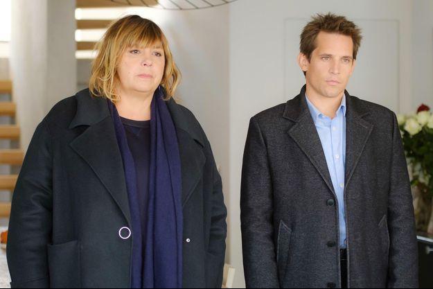 """Michèle Bernier et Antoine Hamel dans """"La Stagiaire""""."""