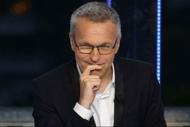 "Laurent Ruquier lors de l'enregistrement de ""ONPC"", en mai 2017."