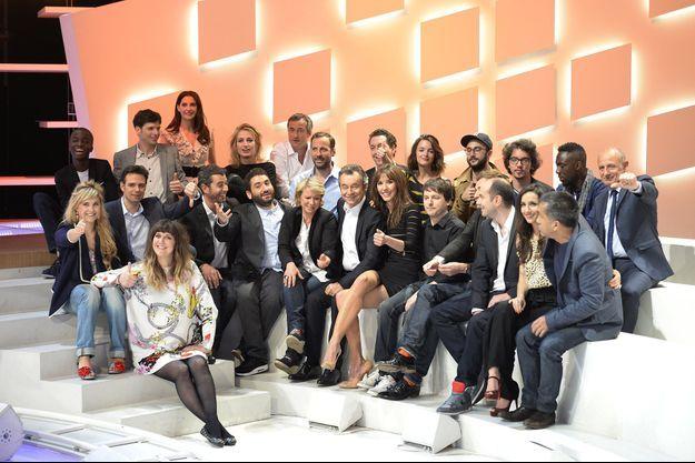 "L'équipe du ""Grand Journal"" en 2013."