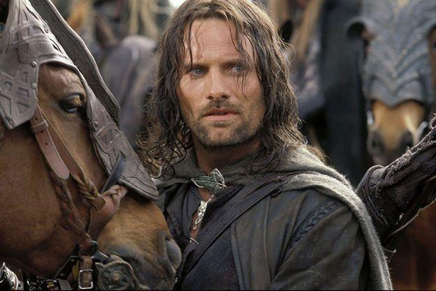 """Viggo Mortensen (Aragorn) dans la saga filmographique du """"Seigneur des anneaux""""."""