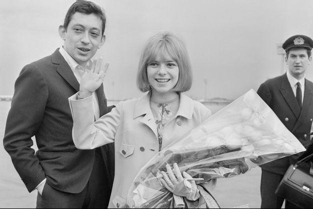 Serge Gainsbourg et France Gall, au lendemain de sa victoire à l'Eurovision.