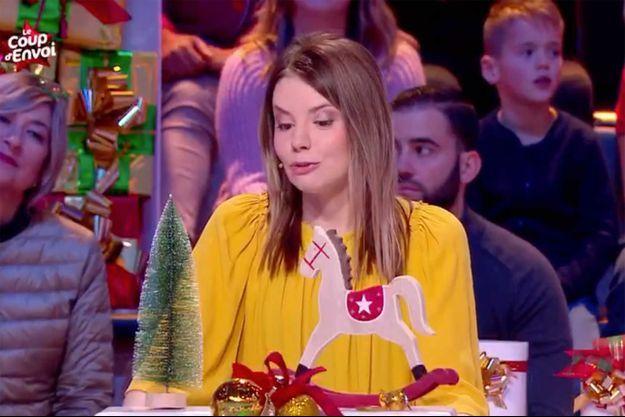 """Camille sur le plateau des """"12 coups de midi"""" dimanche."""