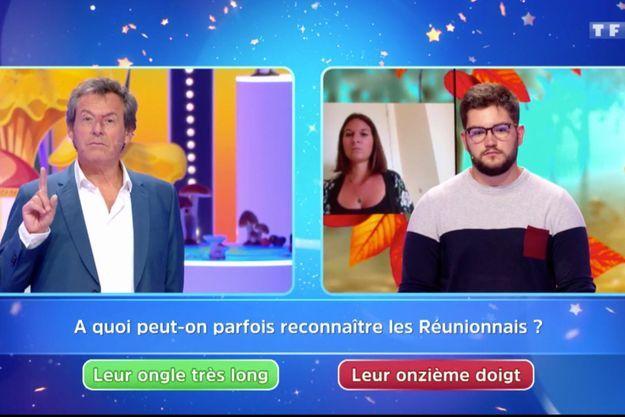 """La question des """"Douze coups de midi"""" au sujet des Réunionnais qui a provoqué la polémique."""