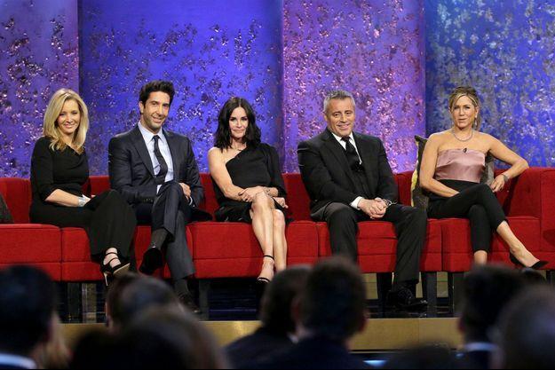 Lisa Kudrow, David Schwimmer, Matt LeBlanc et Jennifer Aniston.