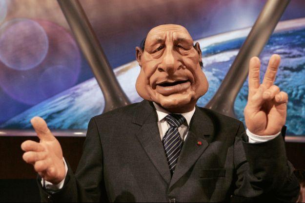 """Jacques Chirac dans les """"Guignols""""."""