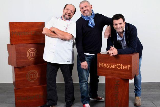 """Gilles Goujon, Christian Etchebest et Yannick Delpech font partie du nouveau jury de """"Masterchef""""."""