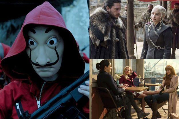 """Les nouvelles saisons de """"Casa de Papel"""", """"Game of Thrones"""" et """"Big Little Lies"""" sont attendues dans les prochains mois."""