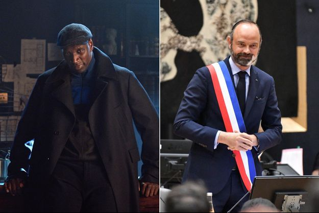 "Omar Sy dans ""Lupin"" et Edouard Philippe."