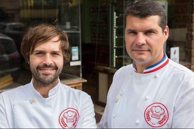 Gontran Cherrier et Bruno Cormerais.