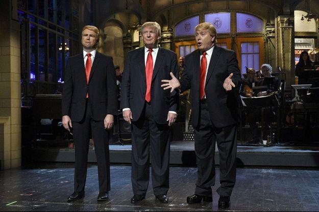 """Donald Trump sur le plateau du """"Saturday Night Live"""" en novembre dernier."""