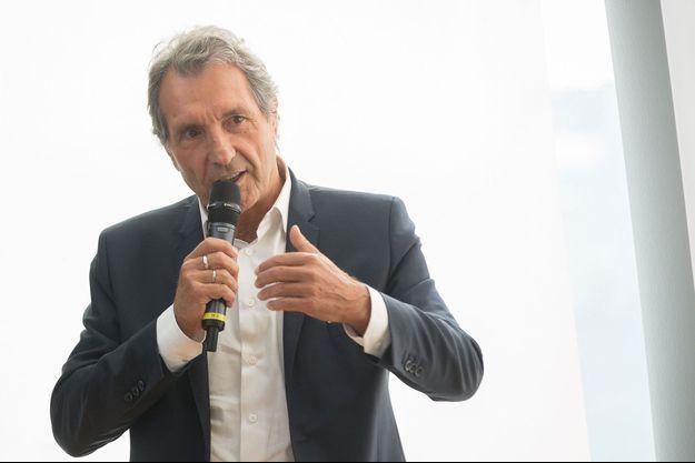 Jean-Jacques Bourdin à la conférence de presse de la rentrée de la station de radio RMC, en août dernier.