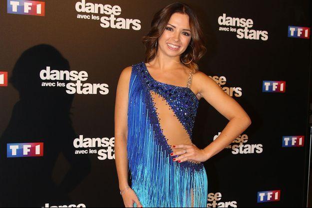 """Marie Denigot lors de la présentation presse de """"Danse avec les stars"""", le 28 septembre dernier."""