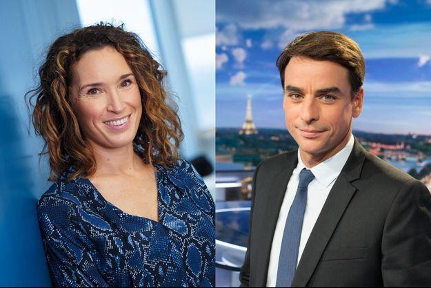 Marie-Sophie Lacarrau et Julian Bugier.