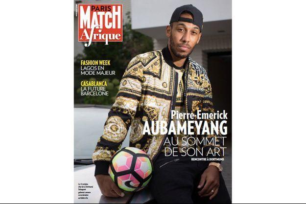 Pierre-Emerick Aubameyang en couverture du premier numéro de Match Afrique.