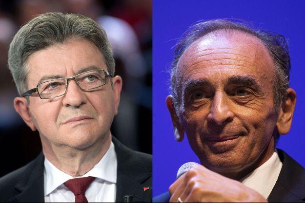 Jean-Luc Mélenchon et Eric Zemmour.