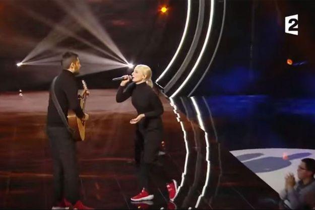 """Madame Monsieur sur la scène de """"Destination Eurovision""""."""