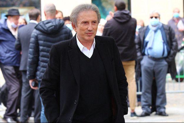 Michel Drucker, ici en juin lors des obsèques de Guy Bedos.