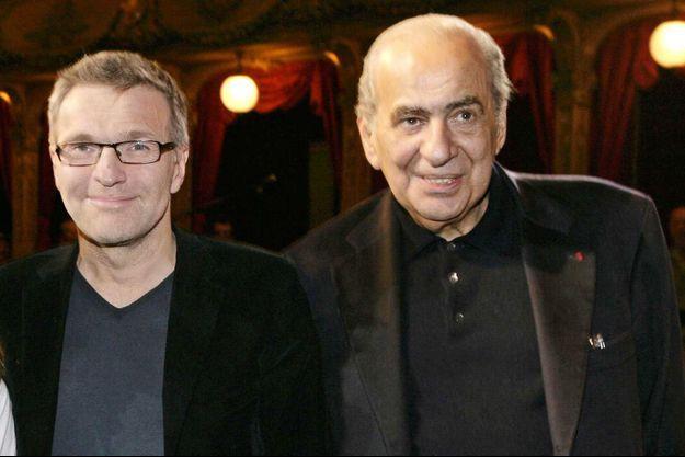 Laurent Ruquier et Pierre Bénichou, en 2013.