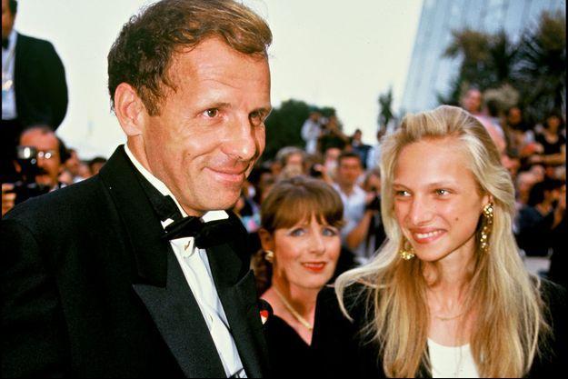 PPDA et sa fille Solenn, au Festival de Cannes 1992.