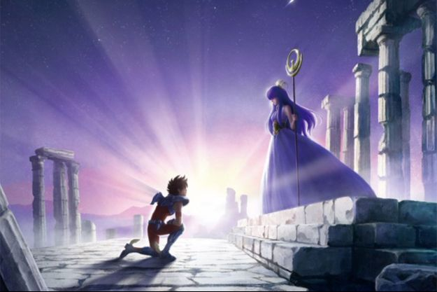 """L'image de la nouvelle version des """"Chevaliers du Zodiaque"""" diffusée par Netflix le 2 août."""