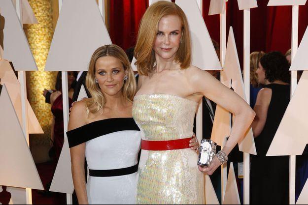 Reese Witherspoon et Nicole Kidman aux Oscars en février 2015.