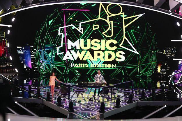 David Guetta sur la scène de NRJ Music Awards en 2020.