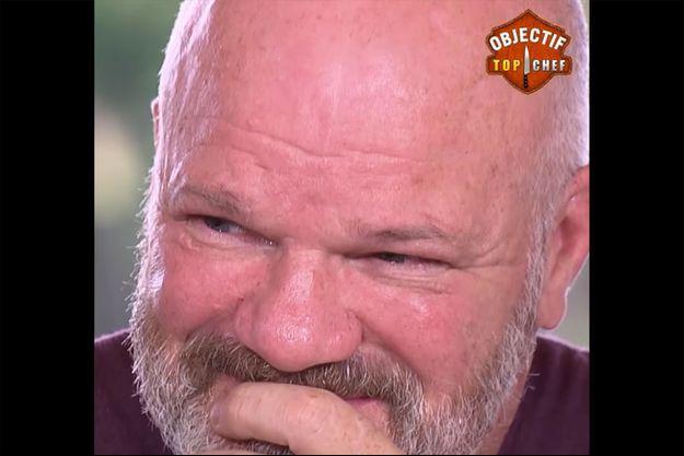 """Philippe Etchebest ému dans """"Objectif Top Chef""""."""