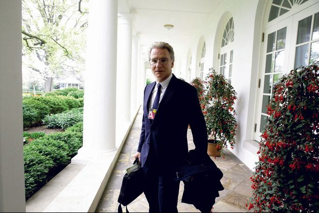 Olivier Royant à la Maison Blanche, à Washington, le 24 avril 2018.