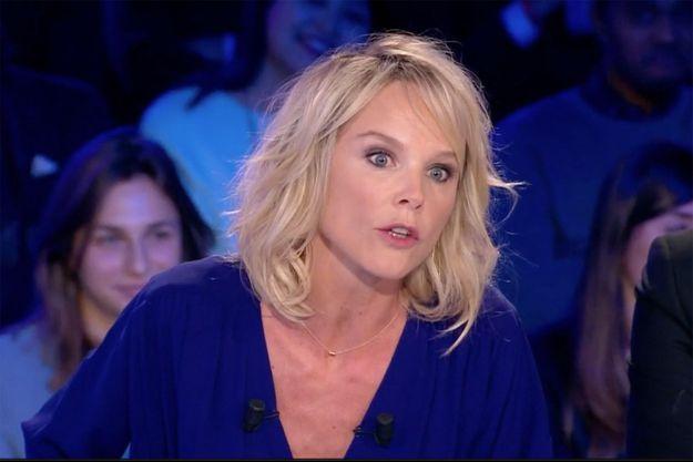 """Vanessa Burggraf sur le plateau d'""""On n'est pas couché"""" samedi."""