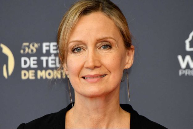 Catherine Marchal au festival de la télévision de Monte-Carlo, vendredi 15 juin.