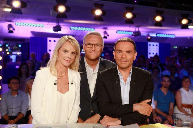 Vanessa Burggraf, Laurent Ruquier et Yann Moix.