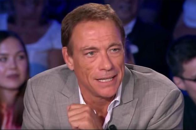 """Jean-Claude Van Damme sur le plateau de """"ONPC"""" lundi."""