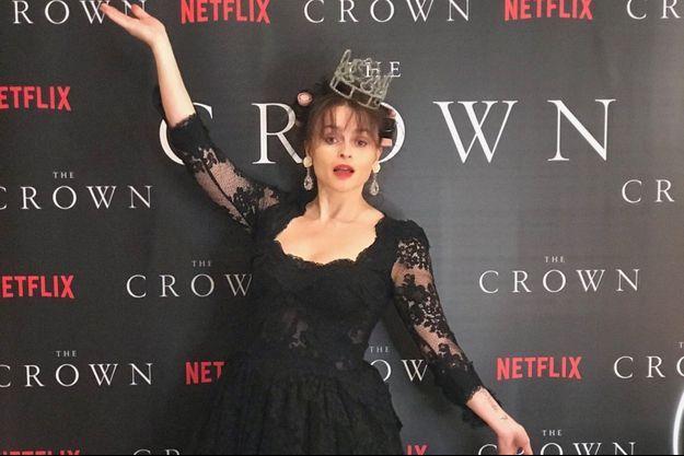 """Helena Bonham Carter lors de l'avant-première à domicile de la saison 4 de """"The Crown""""."""