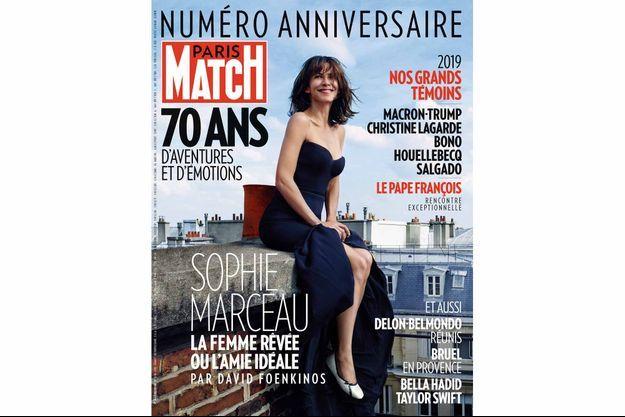 La couverture du numéro exceptionnel des 70 ans de Paris Match.