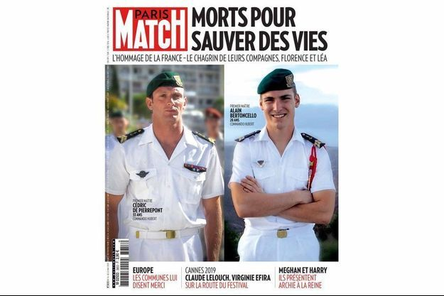 La couverture du numéro 3653 de Paris Match.